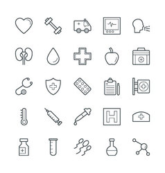 Medical and Health Cool Icons 7 vector image