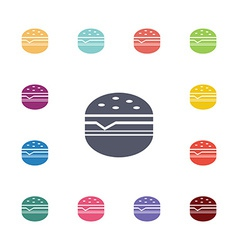 sandwich flat icons set vector image