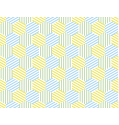 the yellow and blue summer pattern vector image