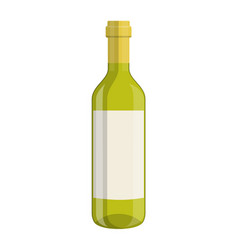 bottle of wine isolated on white background vector image vector image