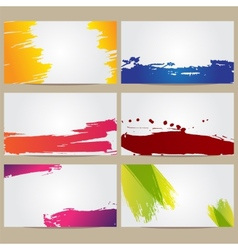 Business Cards with Blots vector image vector image