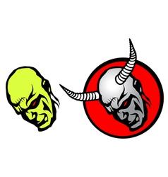demon heads vector image vector image