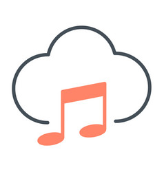 music cloud icon pictogram vector image vector image