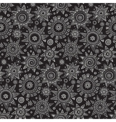 seamless pattern with graphic doodle suns vector image vector image