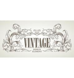 Vintage design elements Retro card vector image