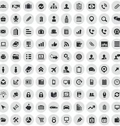 100 company icons vector