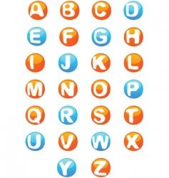 3d alphabet script capitals vector
