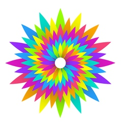 Abstract geometric rainbow flower logo design vector