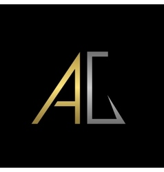 Ag letters logo vector