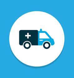 ambulance icon colored symbol premium quality vector image