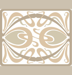 Art deco tracery design vector