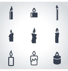 Black candles icon set vector