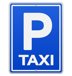 Blue Taxi Sign and Parking vector image vector image