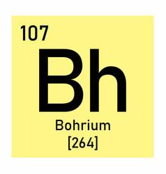 bohrium chemical symbol vector image