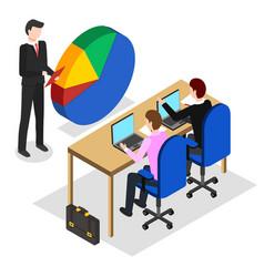 Business seminar or coaching tutoring businessman vector