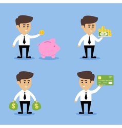 Businessman financial concepts vector