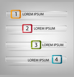 can be used for infographics numbered banners vector image