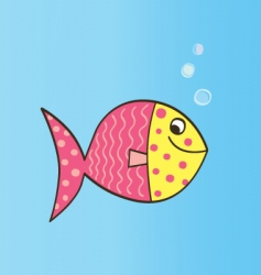 cartoon fish vector image