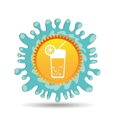 cocktail drink summer vacation sun splashes label vector image