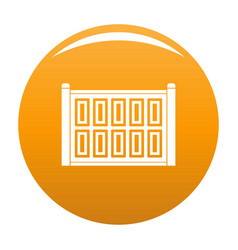 Concrete fence icon orange vector