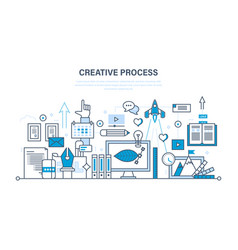 creativity creative thinking planning process vector image
