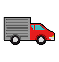 delivery truck isolated icon vector image