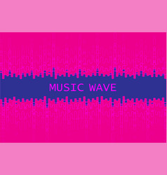 Digital pulse music player background dynamic vector