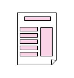 Document with bent corner vector
