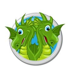 Dragon gemini zodiac sign vector