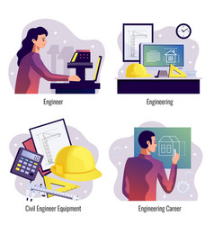 engineering 2x2 design concept vector image