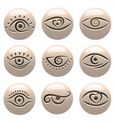 eye icons vector image