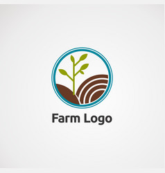 farm circle logo concept icon element and vector image