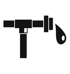 Farm drop pipe icon simple style vector