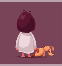 Fear nightmare for a child cartoon vector