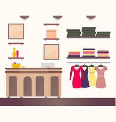 Female shop interior colorful vector