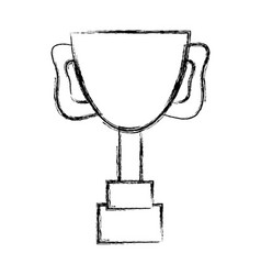 Figure cup prize symbol to winner of competition vector