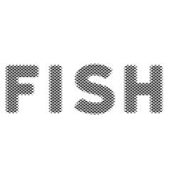 fish fish word mosaic vector image