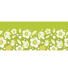 Green kimono florals horizontal seamless pattern vector image vector image