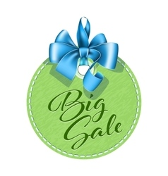 Green tag sale vector