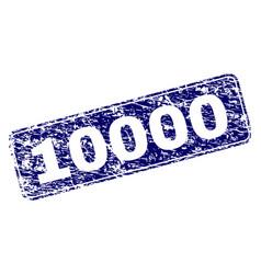 Grunge 10000 framed rounded rectangle stamp vector
