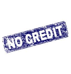 Grunge no credit framed rounded rectangle stamp vector