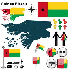 Guinea Bissau map vector image