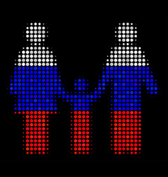 Halftone russian family child icon vector