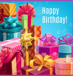 Happy birthday holiday gifts and presents vector