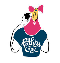 Happy fathers day hand lettering vector