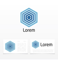hexagon shape abstract vector image