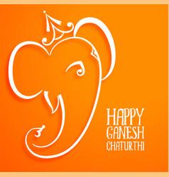 Hindu festival lord ganesha beautiful vector