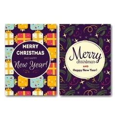 Holiday card with christmas vector image