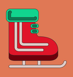 icon in flat design skates vector image