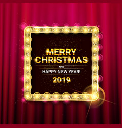 Invitation merry christmas party postee vector